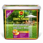 Compo 26173 Floranid Rasendünger gegen Unkraut und Moos 4-in-1, 9 kg für 300 m²