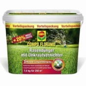 COMPO FLORANID® Rasendünger m. Unkrautvernichter 7,5kg